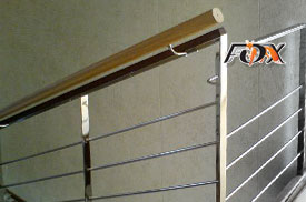 Combined stainless steel railings