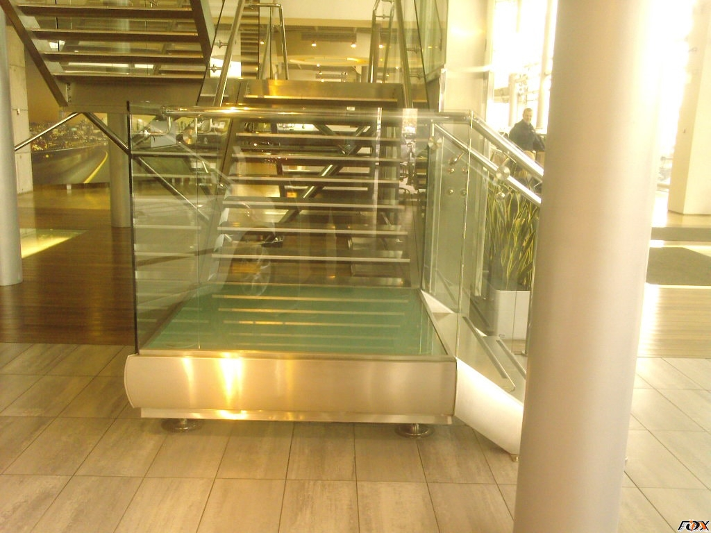 Railing with glass, stainless steel