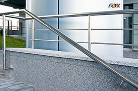 Handrails for staircases from stainless steel